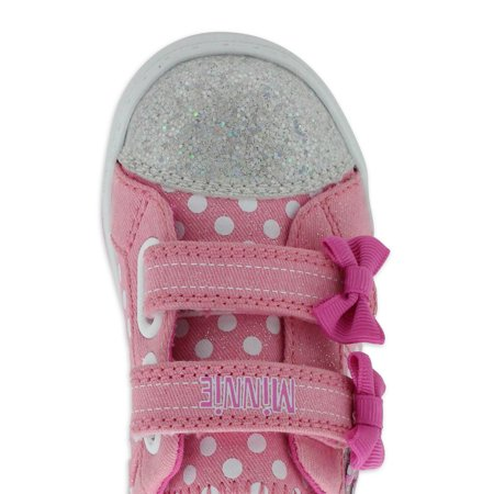 Disney Minnie Mouse Polka Dots & Bows Low-Top Sneaker (Toddler Girls)