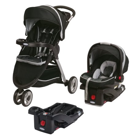 graco fastaction fold sport click connect travel system extra car seat base gotham. Black Bedroom Furniture Sets. Home Design Ideas
