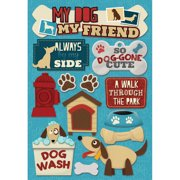 Cardstock Stickers-My Dog, My Friend