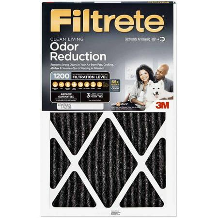 3M Filtrete 1200 Odor Reduction Air and Furnance Filter 12x20x1