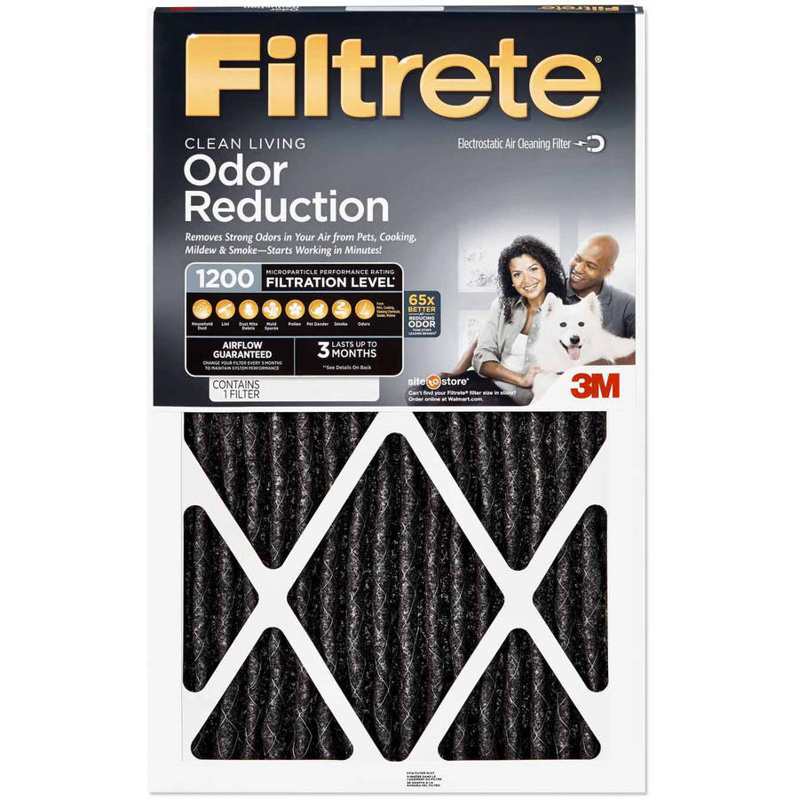 Filtrete 1200 Odor Reduction Air and Furnace Filter, Available in Multiple Sizes