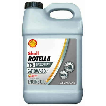 (3 Pack) Shell Rotella T5 10W-30 Diesel Engine Oil, 2.5 gal