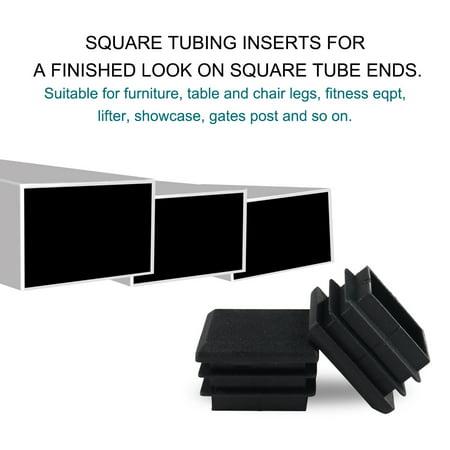 16pcs 25 x 25mm Plastic Square Tube Inserts Cover Black Shelves Leg Protector - image 2 of 7