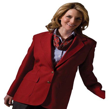 Edwards Garment Women's Two Button Single Breasted Blazer, Style (Cotton Single Breasted Blazer)