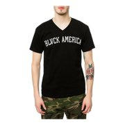 Black Scale Mens The Blvck America V-Neck Graphic T-Shirt