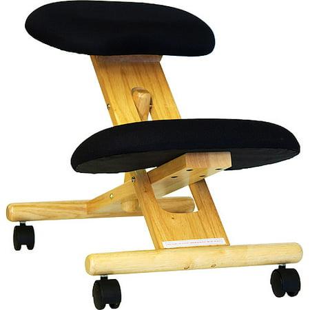 Wooden Ergonomic Kneeling Posture Office Chair, Black - Walmart.com