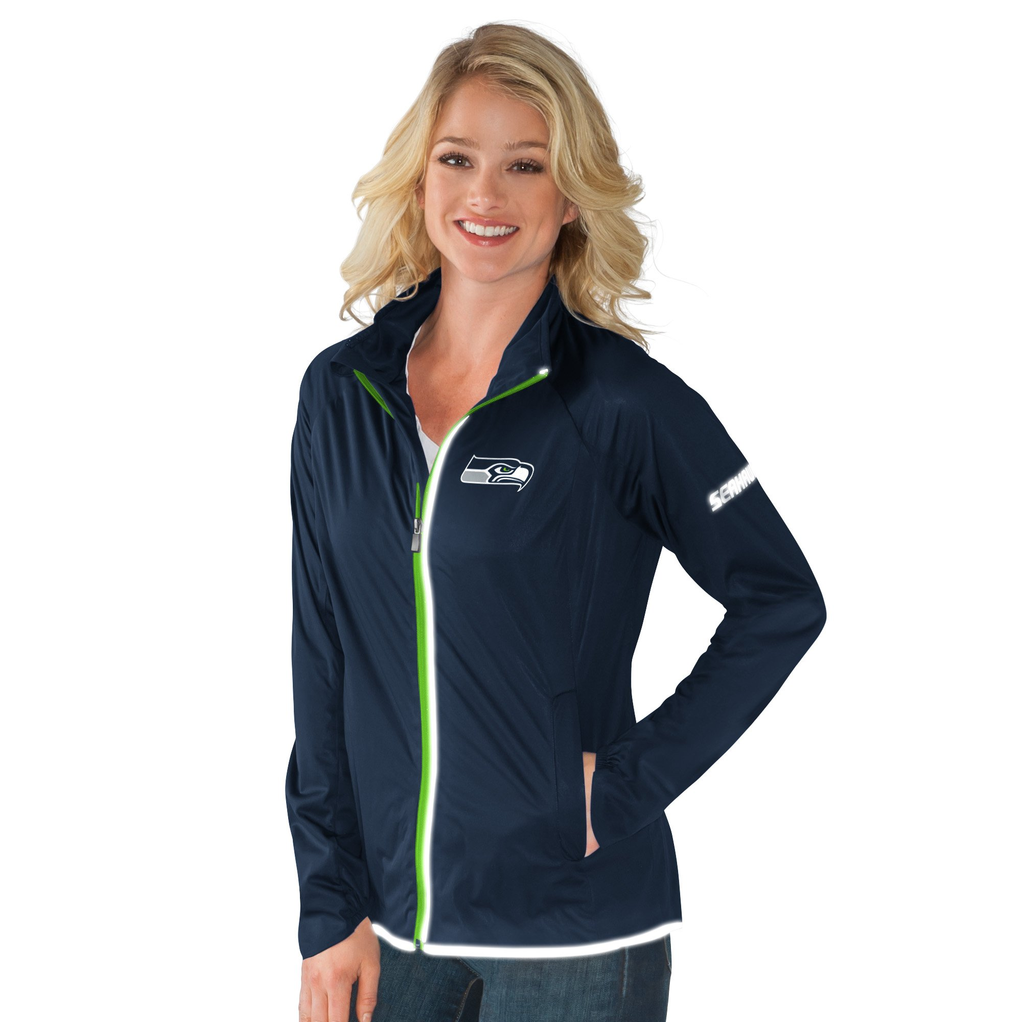 Seattle Seahawks Team Colors Full Zip Women's Track Jacket by G-III Sports
