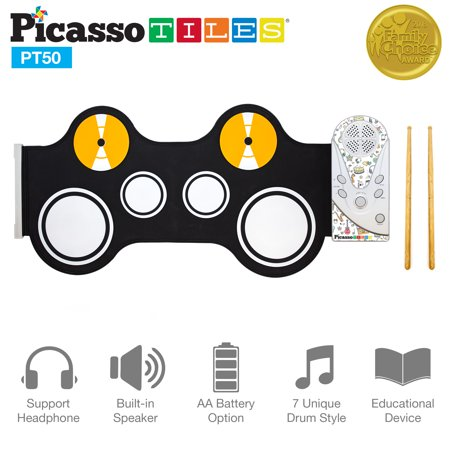 Recording Electronic Drums (PicassoTiles PT50 Kid's Flexible Roll-Up Electronic Digital Music Drum Kit w/ Recording Feature & Built-In)