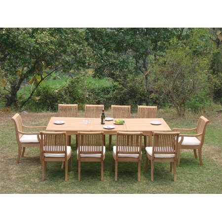 Teak Dining Set:10 Seater 11 Pc - 117