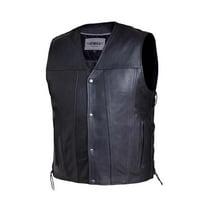 Mens Premium Leather Motorcycle Vest