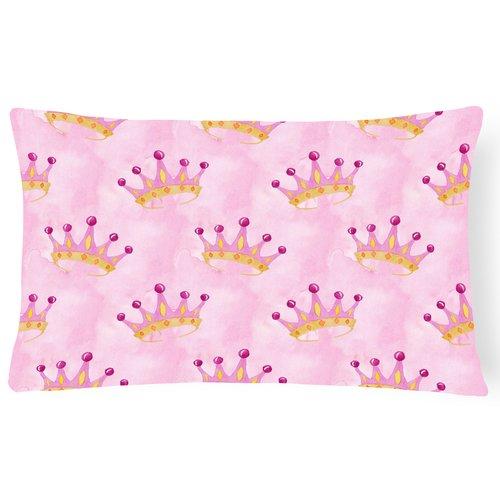 Zoomie Kids Irie Watercolor Princess Crown Indoor/Outdoor Throw Pillow