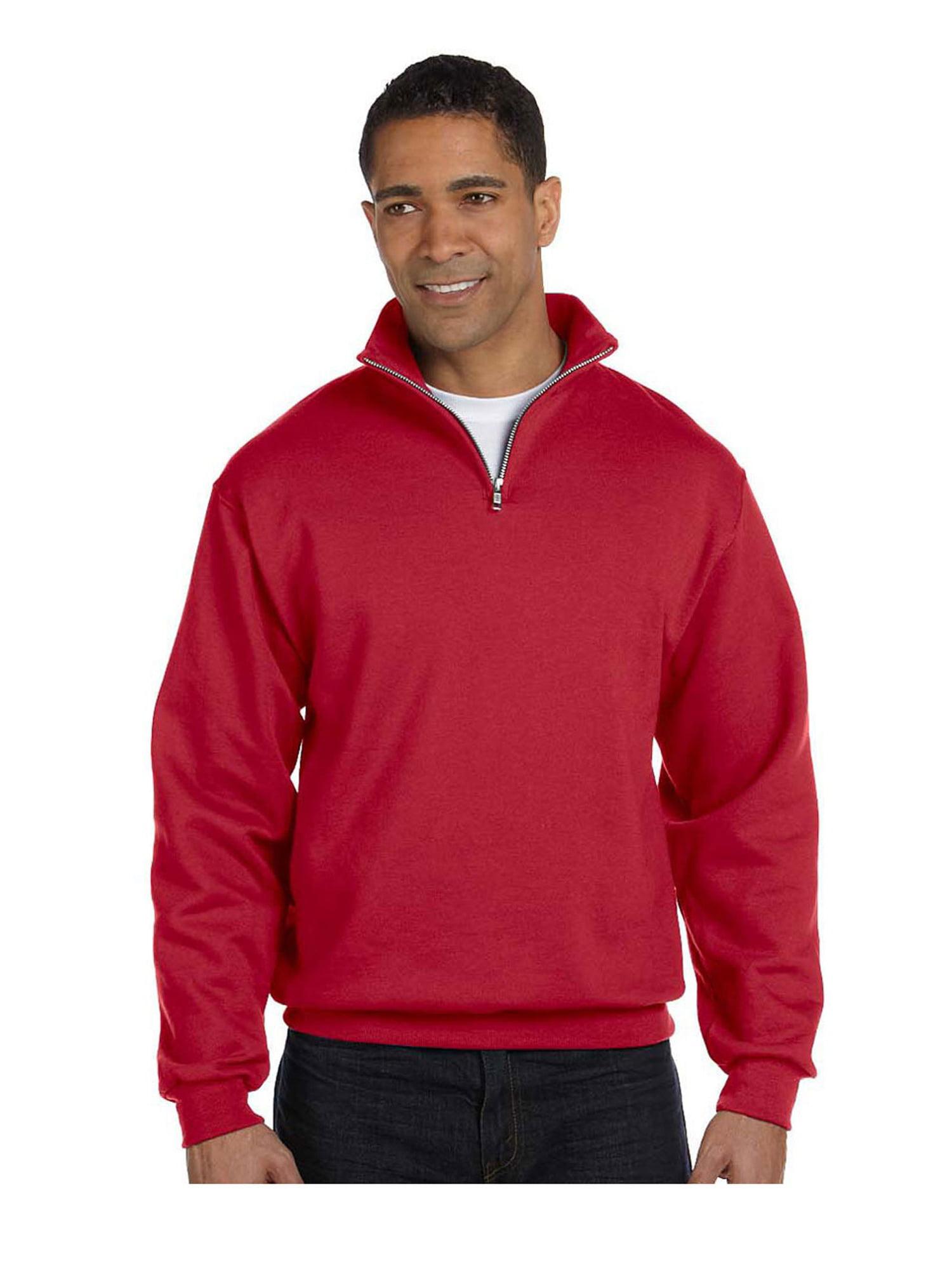 Jerzees Men's Quarter-Zip Cadet Collar Pullover Sweatshirt, Style 995M