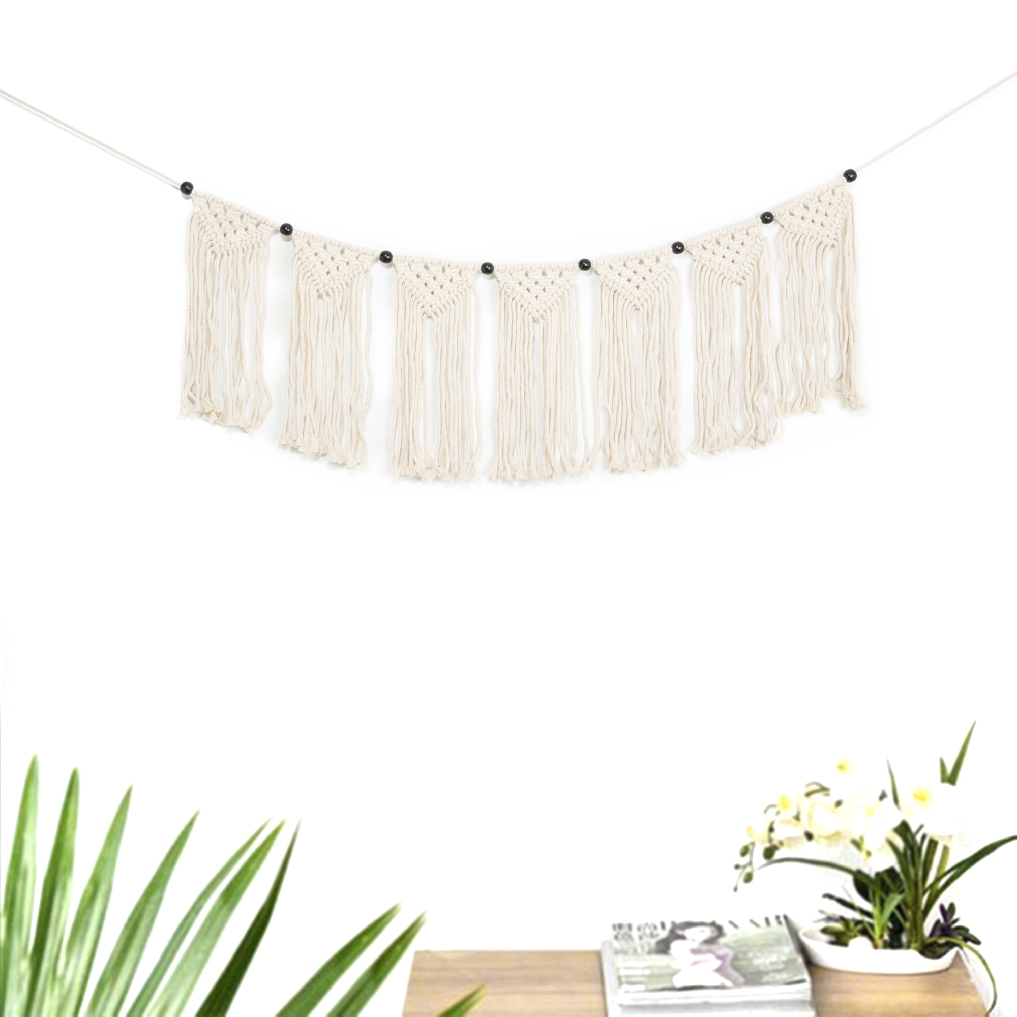 Woven Wall Tapestry Macrame Wall Hanging Boho Wedding Decoration Curtain Fringe Garland Banner Bohemian Cotton Handmade Wall Art Home Wall Decor 42 5 X 9 Walmart Com Walmart Com
