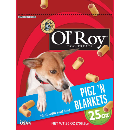 Ol\' Roy Pigz \'N Blankets Dog Treats, 25 Oz