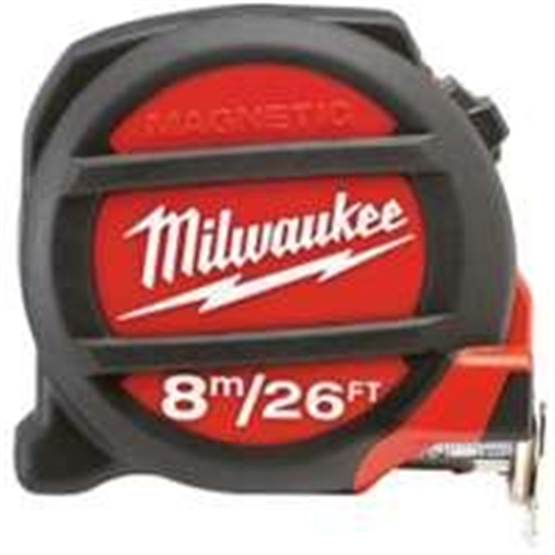 MILWAUKEE ELEC TOOL - 8m/26' Magnetic Tape Measure