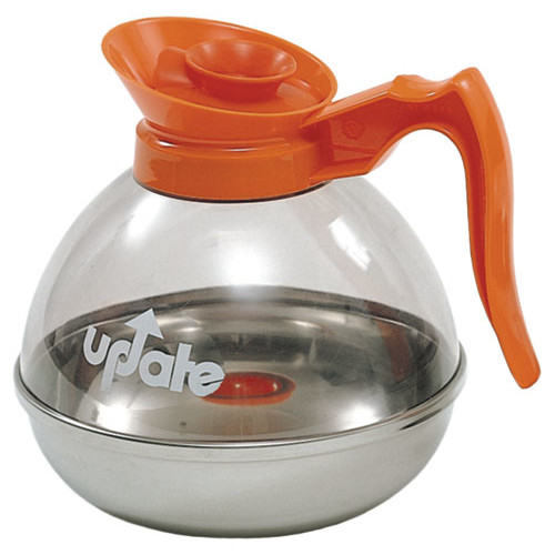 Update International 60 Ounce Polycarbonate Body Stainless Steal Base Coffee Decanter