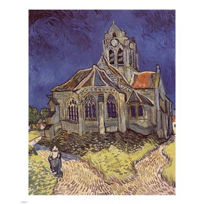Pivot Publishing - A PPA155771 The Church at Auvers  c. 1890 Poster Print by Vincent Van Gogh - 9 x 11