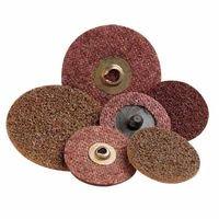 Scotch-Brite Roloc Discs, 4 in, 12,000 rpm, Aluminum Oxide, Brown, Sold As 1 Each