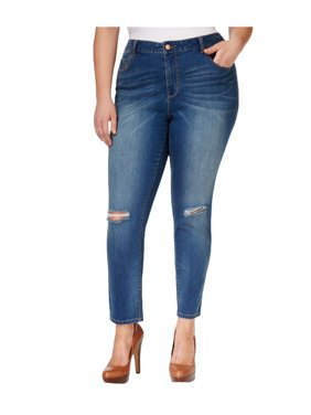 dd9e70bf8726b Product Image American Rag Womens Plus Size Ripped Skinny Fit Jeans