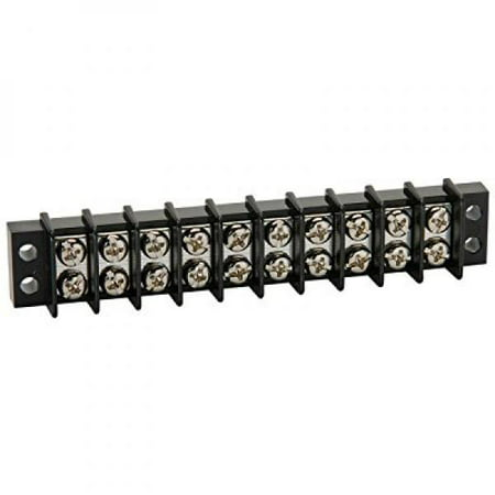 NTE Electronics 25-B500-10 Series 25-B500 Terminal Block Barrier Strip,  Dual Row Panel Mount, 20 Amp, Dual Row, 10 Pole, 9 50 mm Pitch, 300V, 22-14