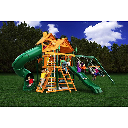 Gorilla Playsets Double Grand Wooden Swing Set