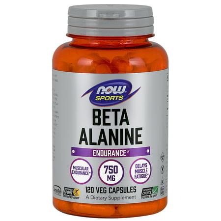 NOW Sports Nutrition, Beta-Alanine 750 mg, 120 -