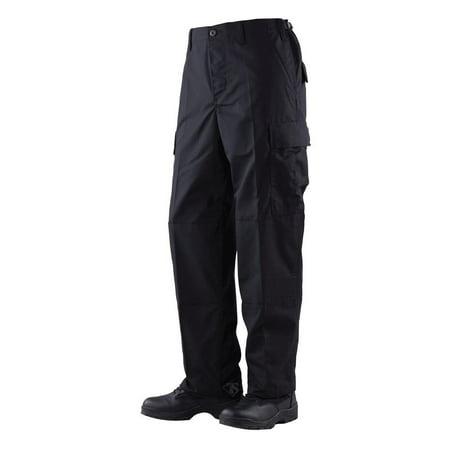 1324 Mens BDU Pants, Poly/Cotton Rip-Stop, Black (Bdu Uniform Pants)
