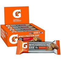 Gatorade Recover Whey Protein Bar, Chocolate Pretzel, 20g Protein, 12 Ct