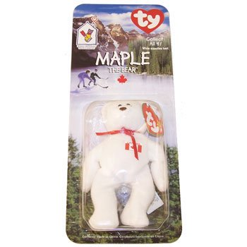 - TY McDonald's Teenie Beanie - MAPLE the Bear (1999) (5 inch)