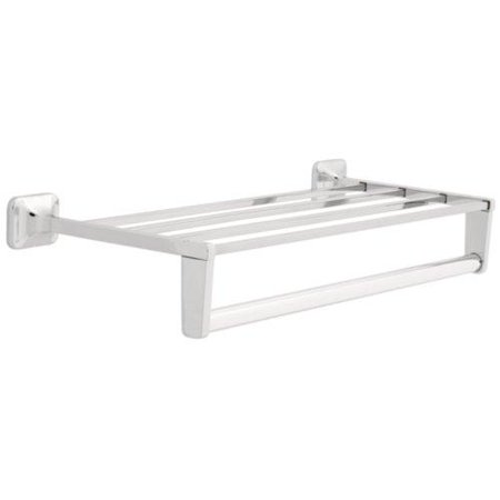Franklin Brass Polished Stainless Steel Towel Shelf and Bar 18