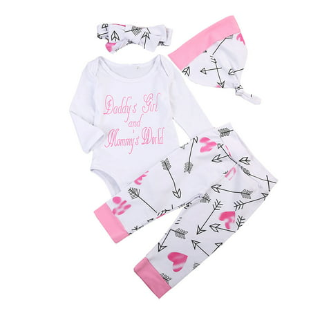 Newborn Girls Clothes Baby Word Romper Outfit Pants Set Long Sleeve Winter Clothing](Winter Soldier Outfit)