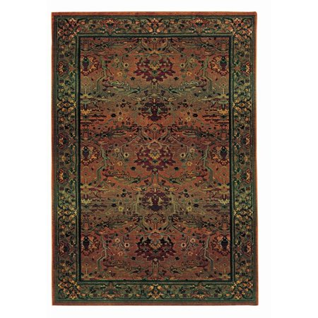 Oriental Weavers Kharma 2' x 3' Machine Woven Rug in Green