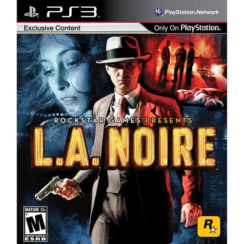 LA Noire w/ Walmart Exclusive'The Slip of the Tongue' Detective Case (PS3)