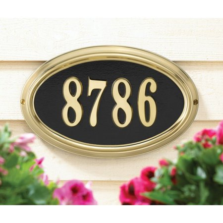 Whitehall Design-it Oval Standard Wall Plaque Frame in Satin Brass (Whitehall Products Satin)