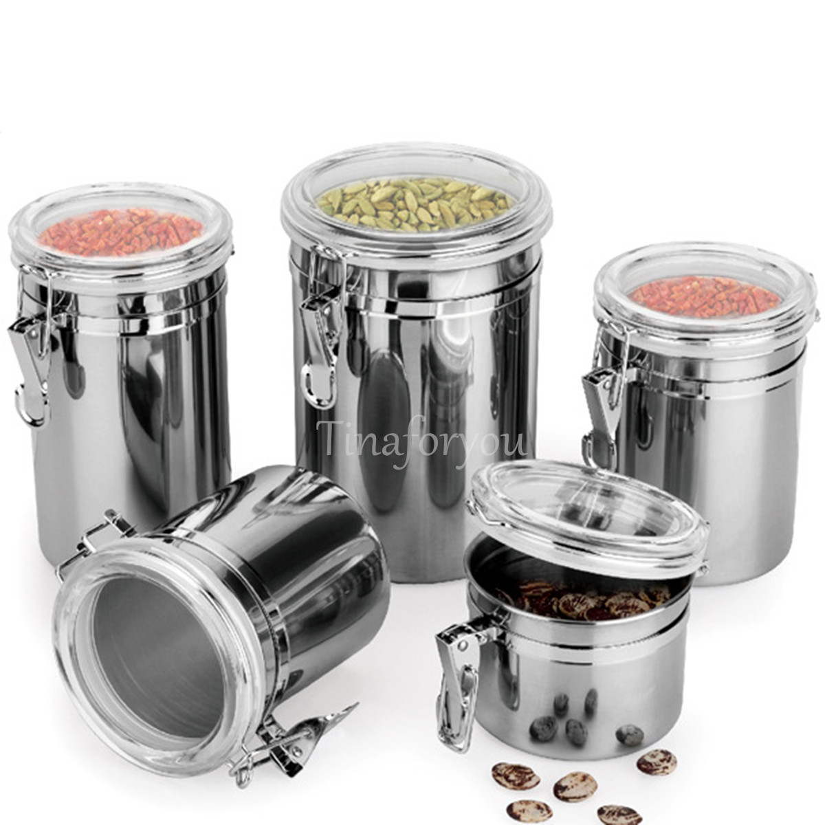 Durable Stainless Steel Canister Sugar Tea Milk Powder Dry Storage Container New