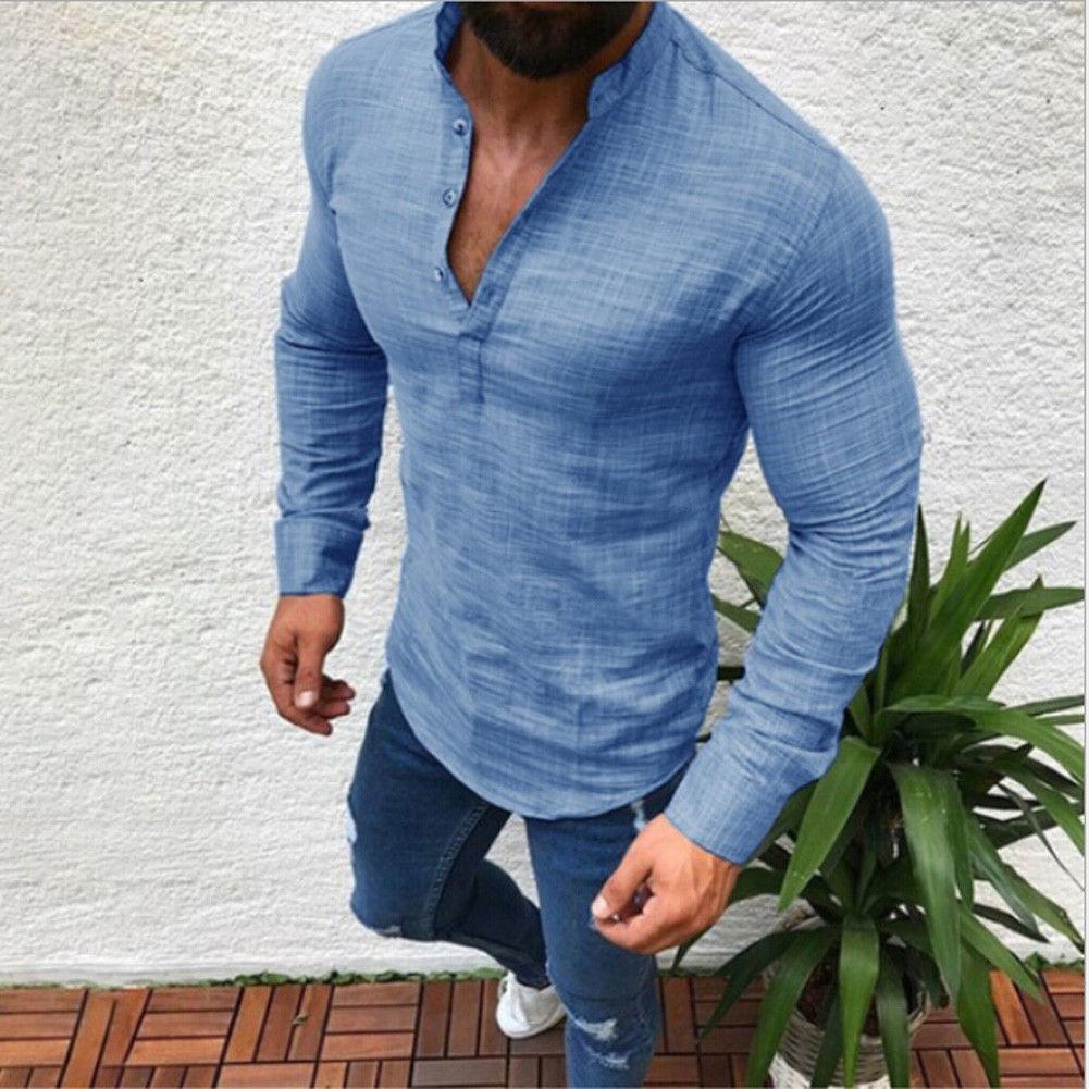 0a79811d Urkutoba - Men's Slim Fit V Neck Long Sleeve Muscle Tee T-shirt Casual Tops  Henley Shirts - Walmart.com