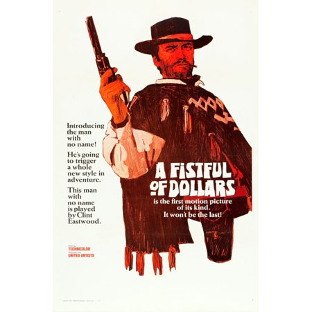 A Fistful Of Dollars Clint Eastwood 1964 Movie Poster Masterprint