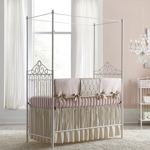 Babyu0027s Dream Furniture Inc. Angelica Canopy 2 In 1 Convertible Crib
