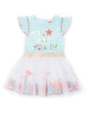 f23184630f576f Product Image Sequin Rainbow Cold Shoulder Tulle Dress (Little Girls)