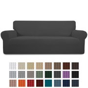 Easy-Going Jacquard Stretch Sofa Slipcover Non Slip Couch Cover, Sofa Size, Dark Gray