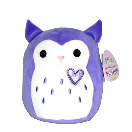 Kellytoy Squishmallows Valentine's Day Themed Pillow Plush Toy (Purple Owl, 9 inches)](Valentine Owl)