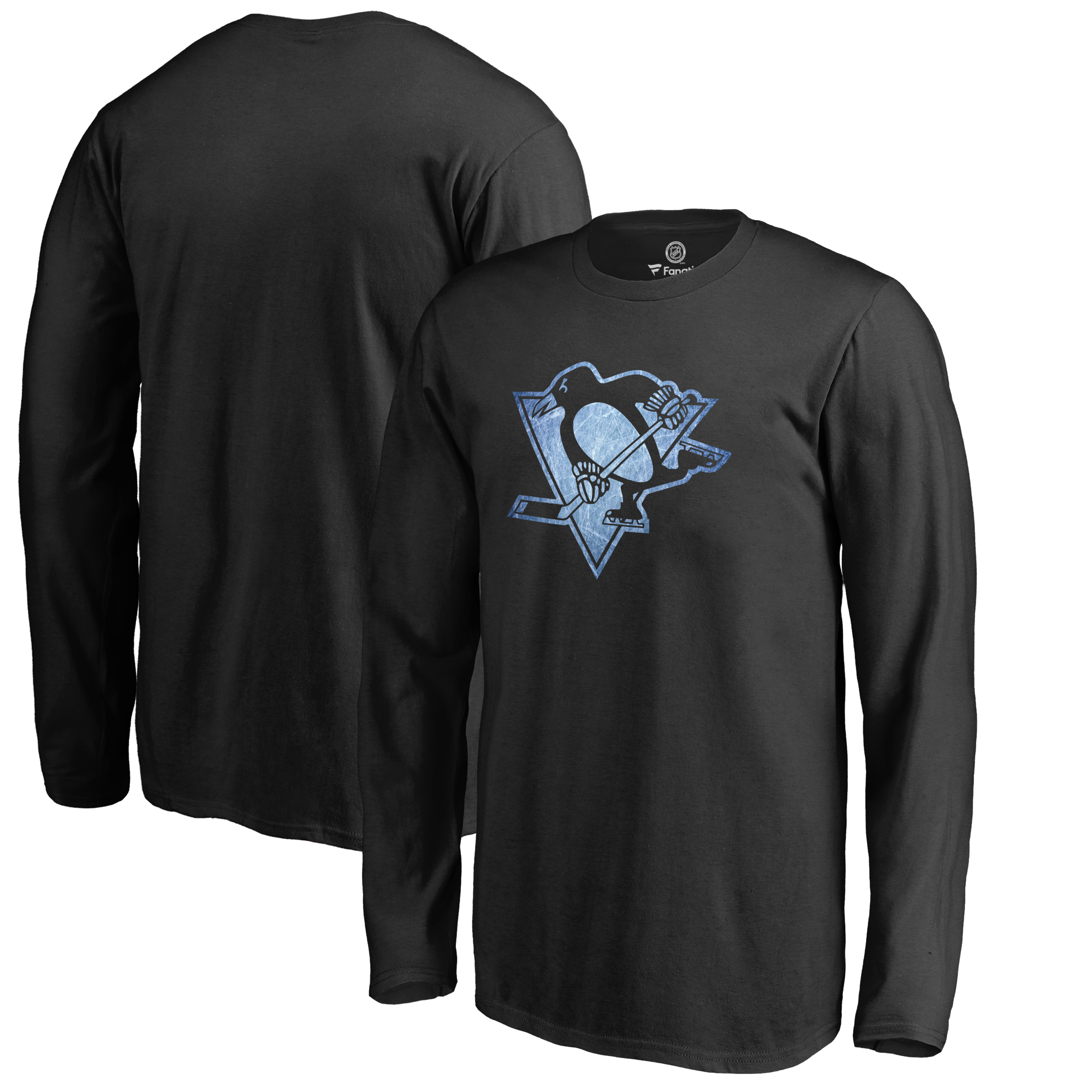 Pittsburgh Penguins Youth Pond Hockey Long Sleeve T-Shirt Black by Football Fanatics/Ruppshirts