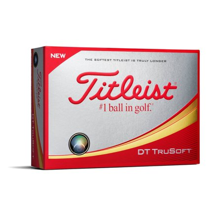 - Titleist DT TruSoft Golf Balls, Yellow, 12 Pack