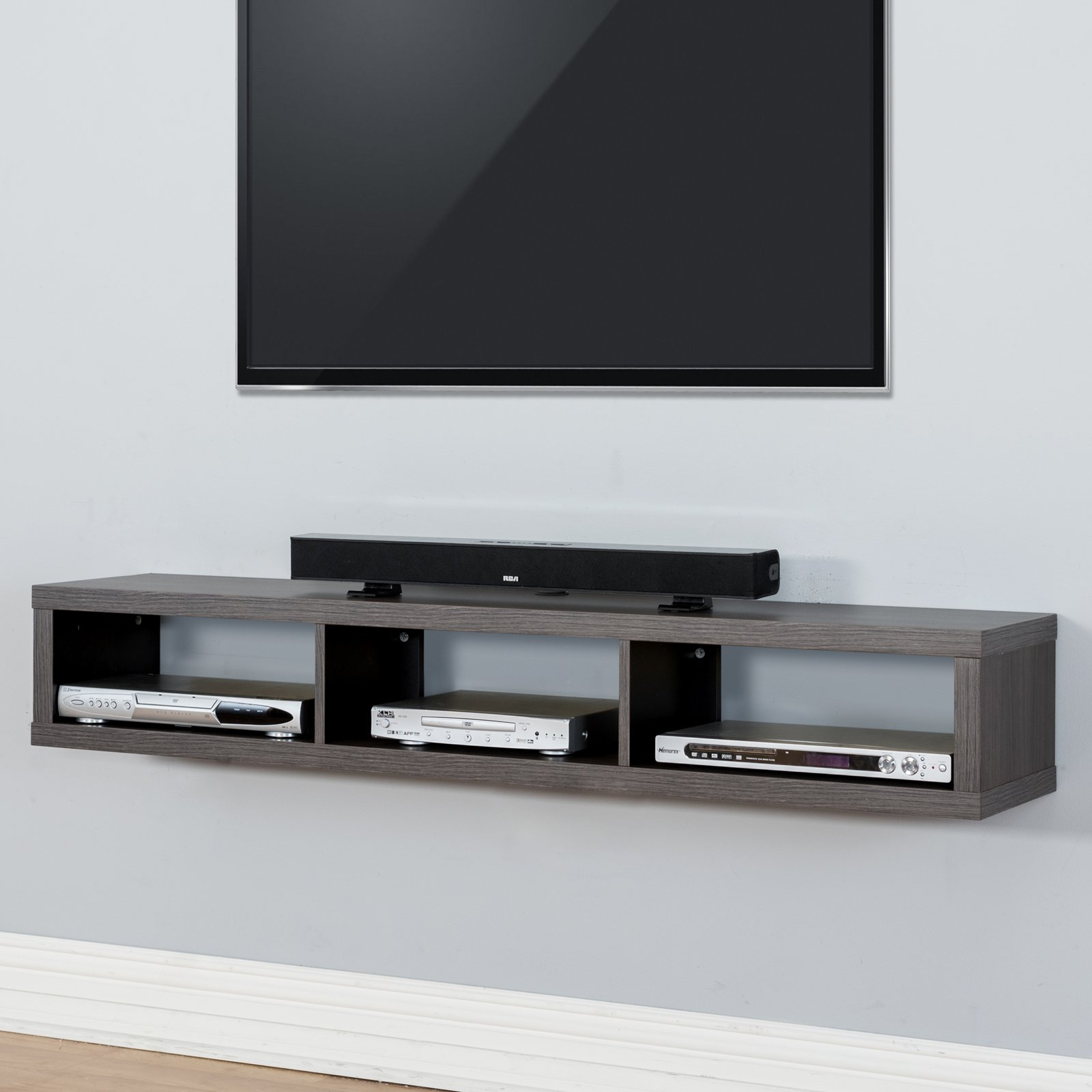 Martin Furniture Shallow Wall Mounted TV Shelf Walmart