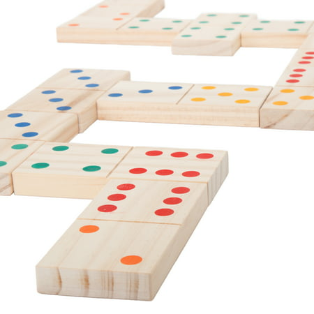 Giant Wooden Dominoes Set, Indoor and Outdoor Play by Hey! Play! - Giant Bowling