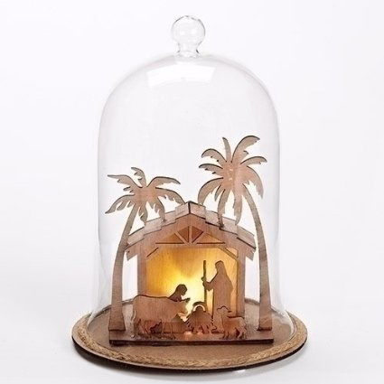 "Dome-Nativity Stable-LED (9"")"