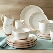 Better Homes & Gardens Claybrooke Cream Stoneware Dinner Set, 16 Piece