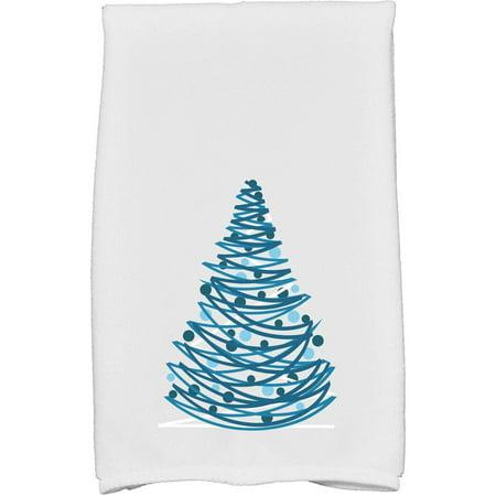 "Simply Daisy 16"" x 25"" Oh Christmas Tree Holiday Geometric Print Kitchen Towel"