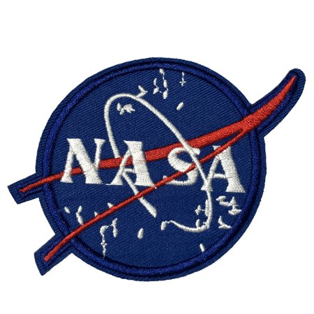 NASA Logo Stars Embroidered Patch Iron/Sew-On Applique Space Explorer Planets