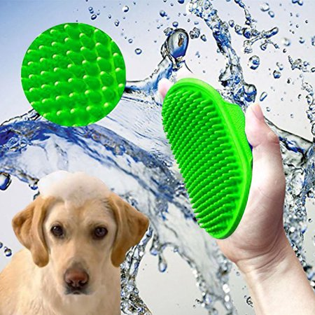 FeelGlad Pet Foam Bath Brush, Grooming Shampoo Comb, Effective Tools Clean Hair and Massage Skin Brush For Dogs Or Cats(Blue)